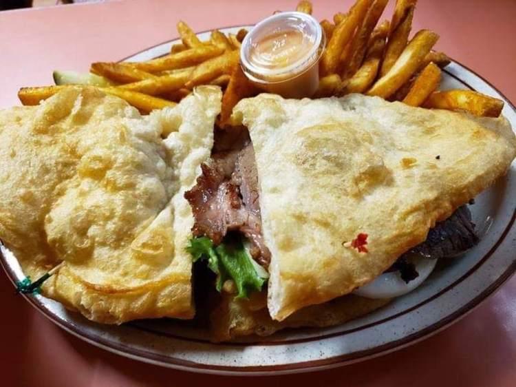 Frybread sandwich